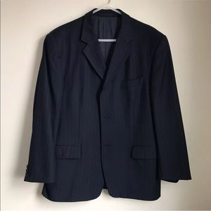 Dated YSL Yves Saint Laurent Blazer Pinstripe Navy